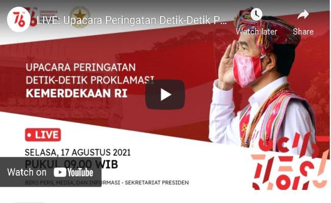 Pengadilan Militer III-17 Manado ambil bagian dalam peringatan HUT RI ke-76 secara Virtual